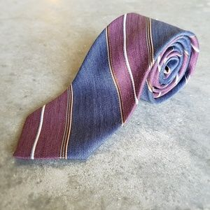 Blue and Maroon Ketch Tie